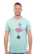 náhled - Plamenomeťák zelené pánské tričko