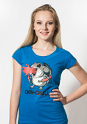 náhled - Chinchilli modré dámské tričko
