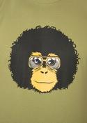 náhled - Retro opičák zelené pánské tričko
