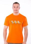 náhled - Ostravačka oranžové pánské tričko