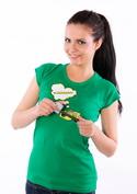 náhled - Ořezávátko zelené dámské tričko