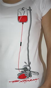 náhled - Komár bílé dámské tričko