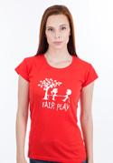 náhled - Fair play červené dámské tričko