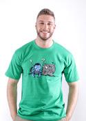 náhled - Error 501 zelené pánské tričko