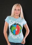 náhled - Sweet World modré dámské tričko