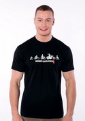 náhled - Bikers evolution pánské tričko