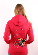 náhled - Ladybird červená dámská mikina