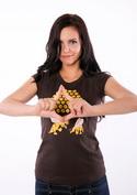 náhled - Sladká chyba hnědé dámské tričko