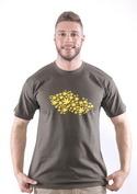 náhled - Ganja country khaki tričko