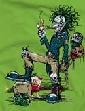 náhled - Evil Clown zelené dámské tričko