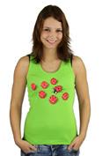 náhled - Mimikry zelené dámské tílko