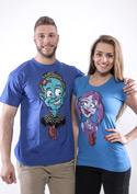 náhled - Láska až za hrob modré dámské tričko