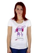 náhled - Drum'n'bass bílé dámské tričko