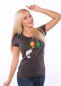 náhled - Těžká volba šedé dámské tričko