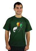 náhled - Těžká volba zelené pánské tričko