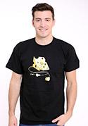 náhled - iDam černé pánské tričko