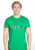 náhled - Opice zelené pánské tričko