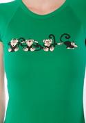 náhled - Opice zelené dámské tričko