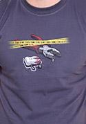 náhled - Zoubkovražda šedé pánské tričko