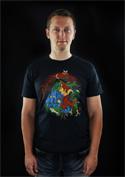 náhled - Mario's Trip černé pánské tričko