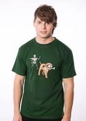 náhled - Kostlivec zelené pánské tričko