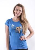 náhled - Kostlivec modré dámské tričko