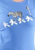 náhled - Zebra modré dámské tričko
