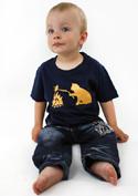 náhled - Kočka a myš modré dětské tričko