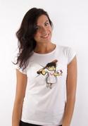 náhled - Zoubková víla bílé dámské tričko