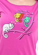 náhled - Těžká volba fuchsiové dámské tričko