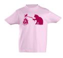 náhled - Kočka a myš růžové dětské tričko
