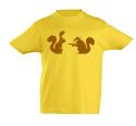 náhled - Veverky žluté dětské tričko