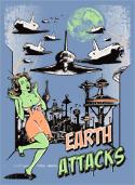 náhled - Země útočí světle modré dámské tričko