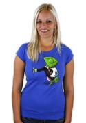 náhled - Mistr převleků modré dámské tričko