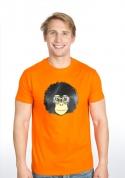 náhled - Retro opičák oranžové pánské tričko