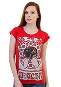 náhled - Moucha červené dámské tričko
