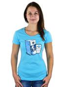 náhled - Lednice modré dámské tričko