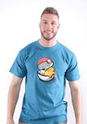 náhled - Konec pokémona modré pánské tričko