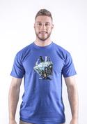 náhled - Migrující rybka modré pánské tričko