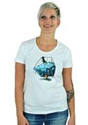 náhled - Migrující rybka bílé dámské tričko