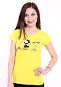 náhled - Nesprávný konec žluté dámské tričko