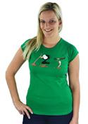 náhled - Nesprávný konec zelené dámské tričko