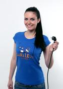 náhled - Bezdrát tm. modré dámské tričko