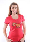 náhled - Jednorožec červené dámské tričko
