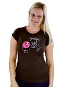 náhled - Rýmička hnědé dámské tričko
