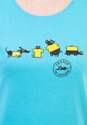 náhled - Testováno modré dámské tričko
