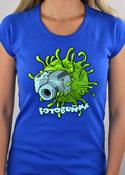 náhled - Fotobuňka modré dámské tričko