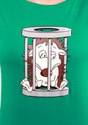 náhled - Ježek v kleci zelené dámské tričko
