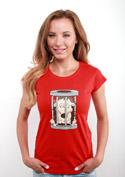 náhled - Ježek v kleci červené dámské tričko