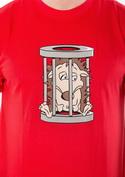 náhled - Ježek v kleci červené pánské tričko